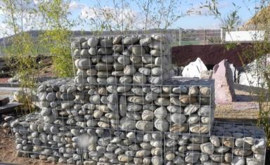 gabion en mailles de 10x10cm galvanis pour mur de sout nement. Black Bedroom Furniture Sets. Home Design Ideas